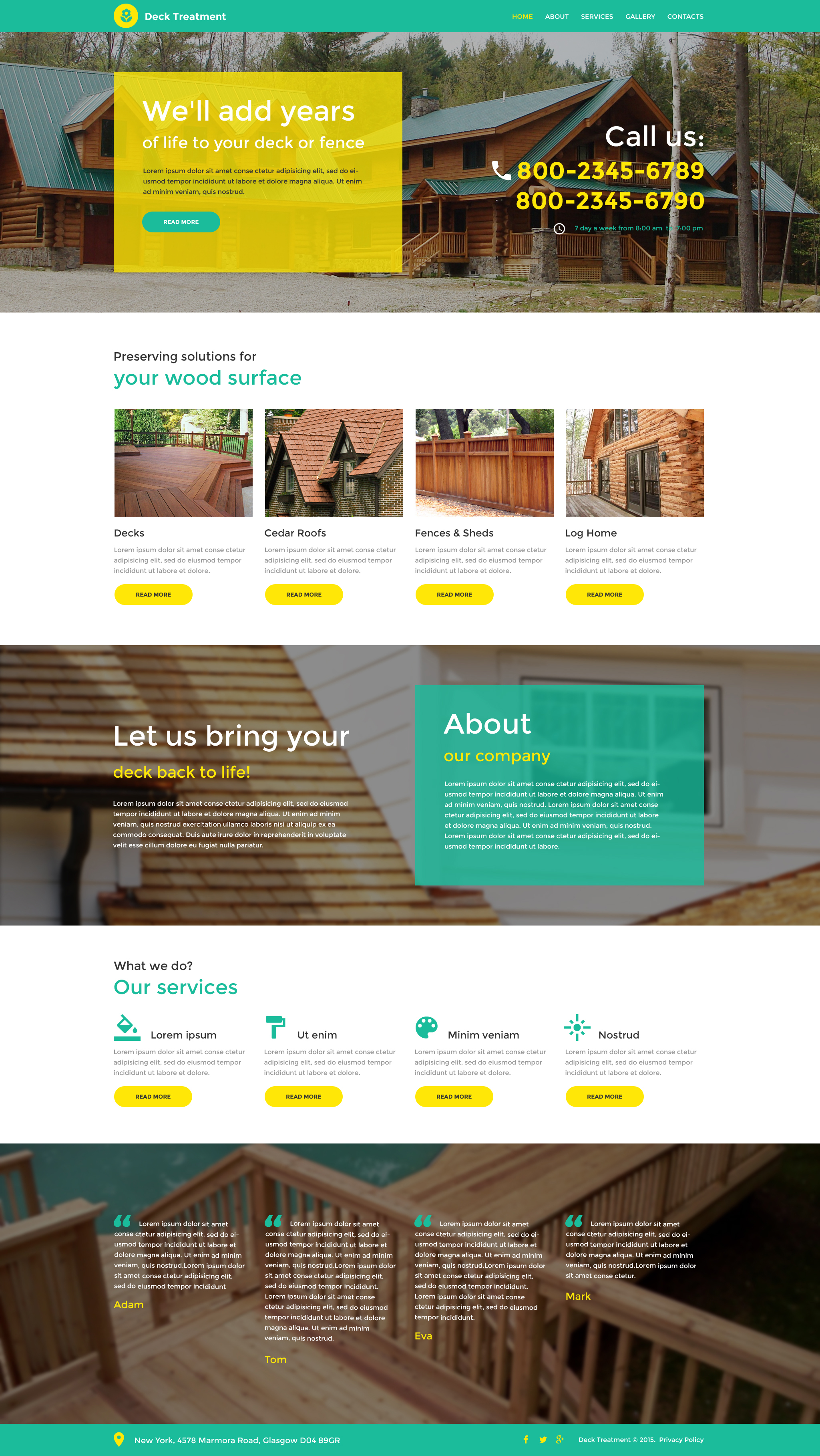 Responsive Website template over Interieur-design №56073