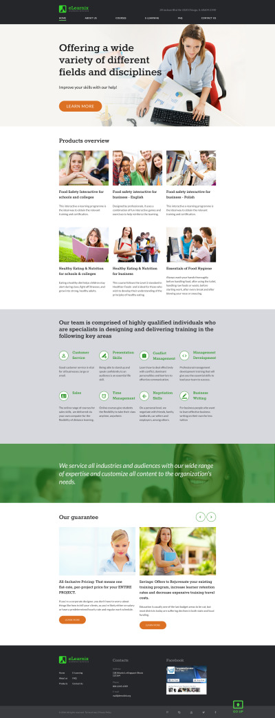 Private Teacher Responsive Website Template