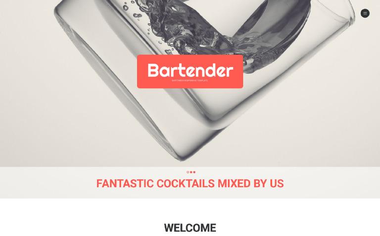 Website Vorlage #56035 für Cocktailbar