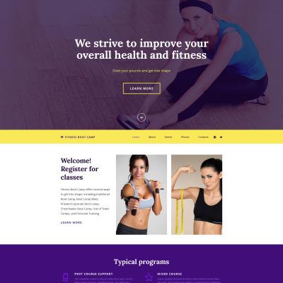 fitness website vorlagen