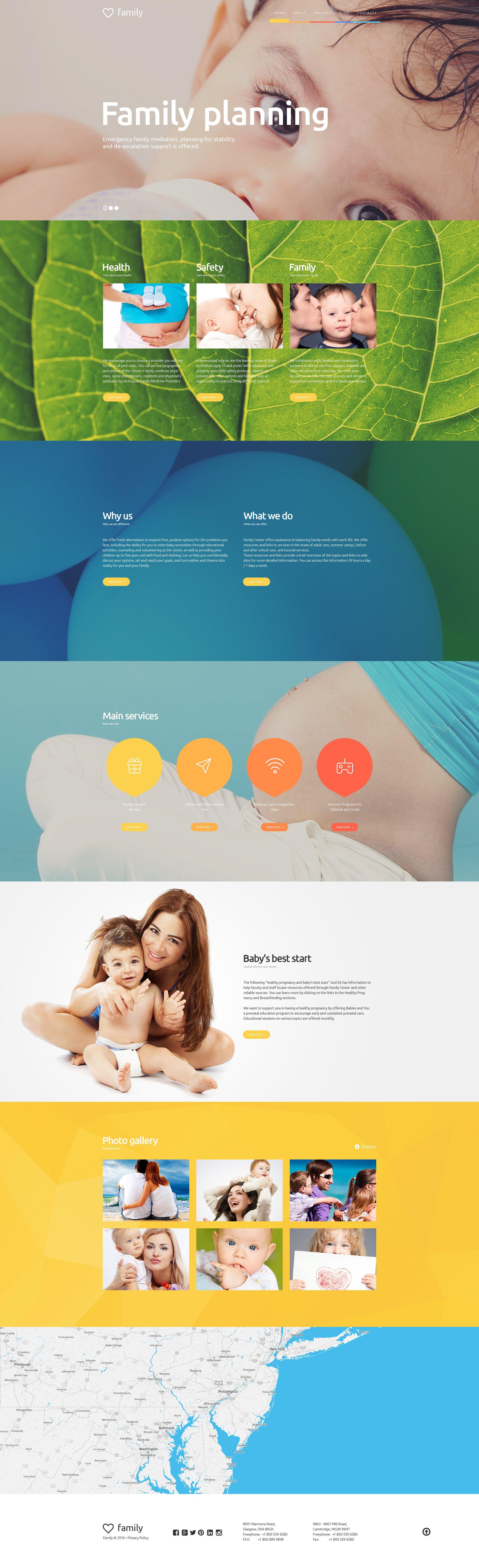 Responsivt Family Planning WordPress-tema #56090