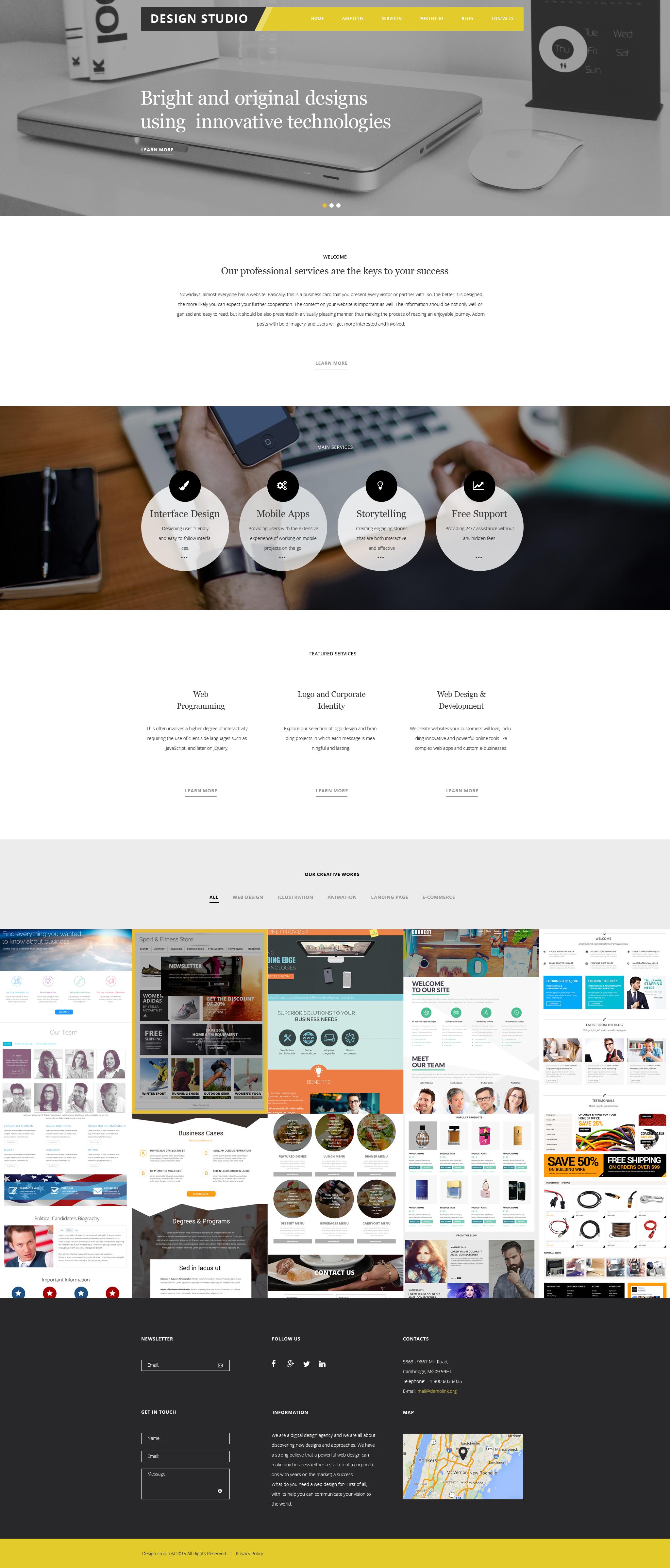 Responsywny motyw WordPress Design Studio #56038 - zrzut ekranu