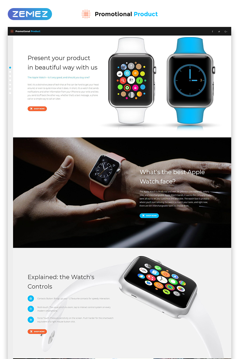 Responsywny szablon Landing Page Promotional Product - Electronics Review Creative HTML #56095