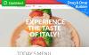 Reszponzív Kávézó és étterem  Moto CMS 3 sablon New Screenshots BIG