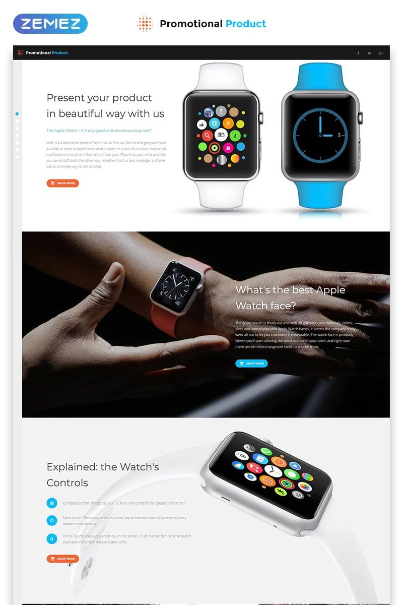 Reszponzív Promotional Product - Electronics Review Creative HTML Nyítóoldal sablon 56095