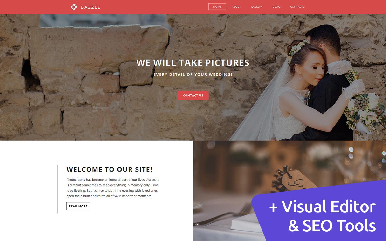Reszponzív Wedding Photo Gallery Fényképgaléria sablon 56011