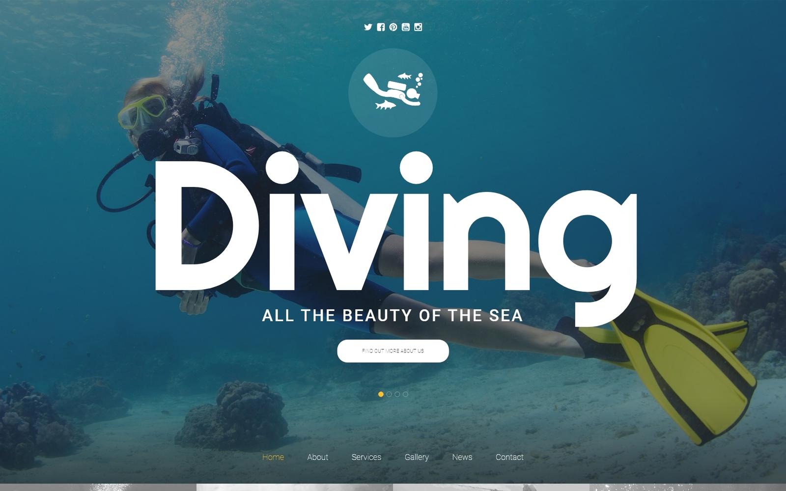 """""""Scuba Diving"""" - адаптивний Шаблон сайту №56045"""
