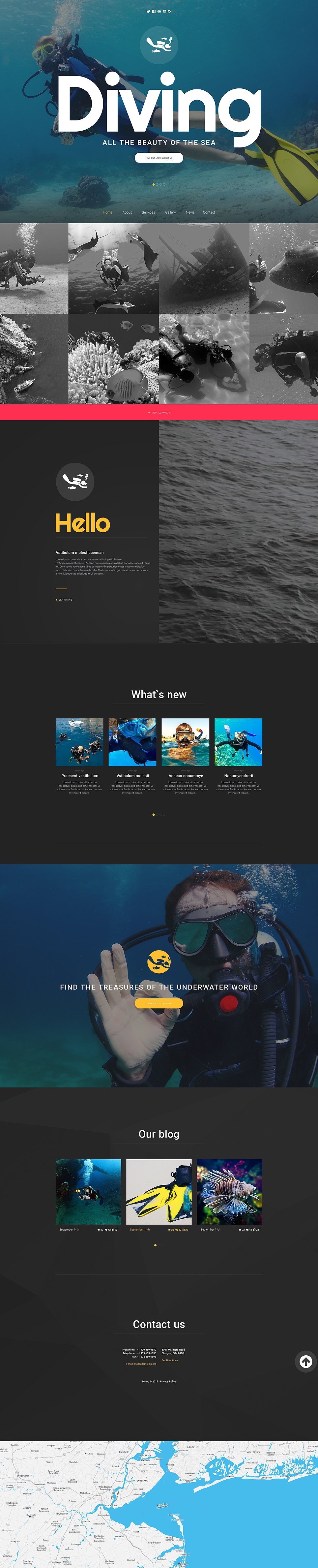 diving website template
