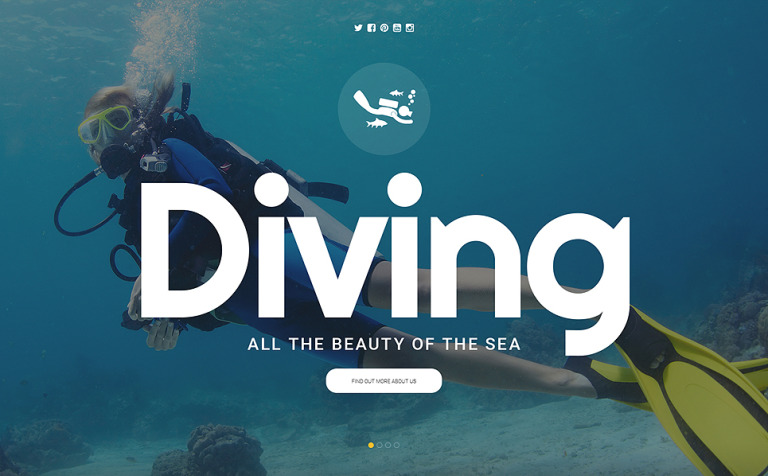 Scuba Diving Website Template