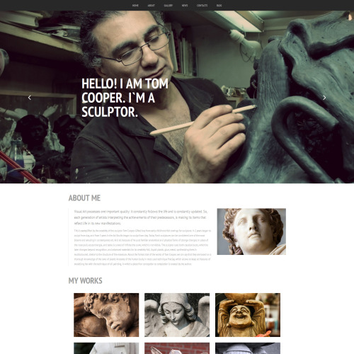 Sculpture - MotoCMS 3 Template based on Bootstrap
