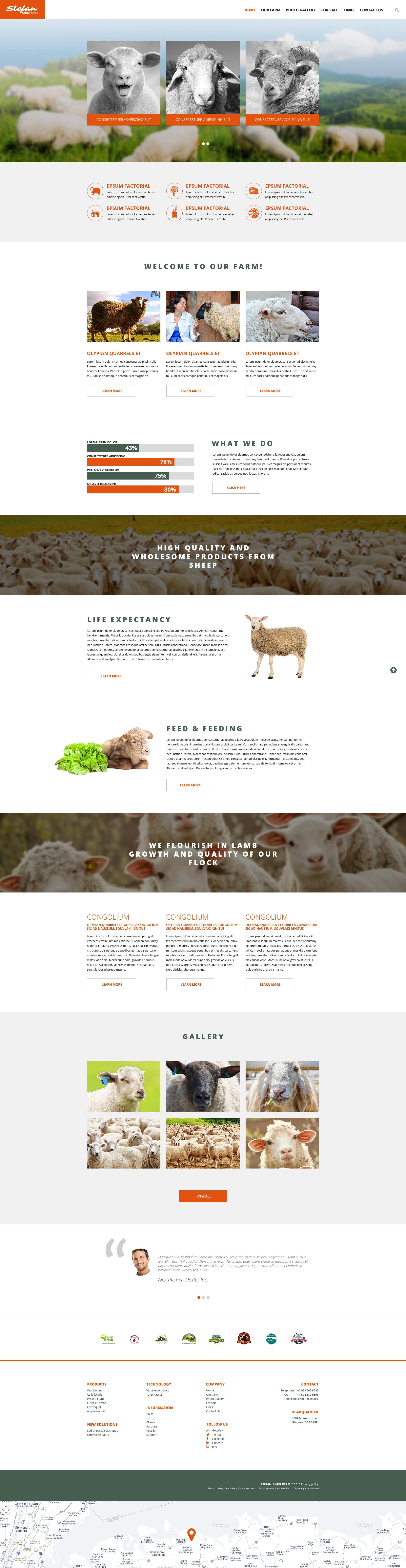 Sheep Farm Website Template