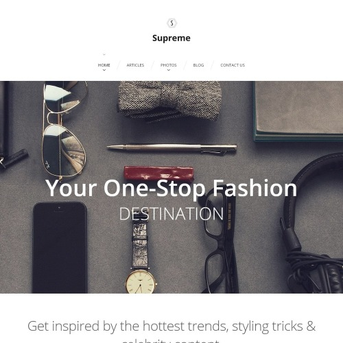 Supreme - WordPress Template based on Bootstrap