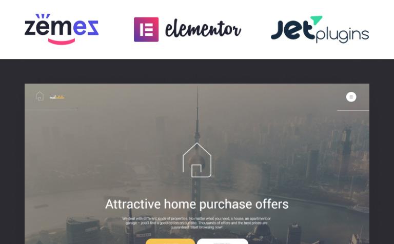 Tema de WordPress #56093 para Sitio de Agencias inmobiliarias