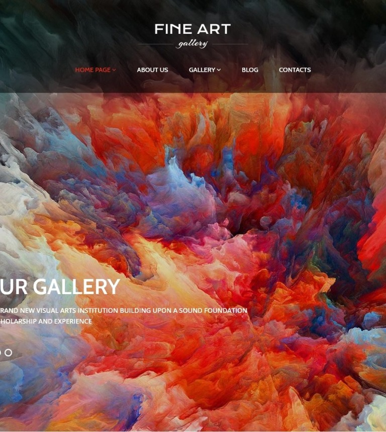 Tema WordPress Flexível para Sites de Galerias de Arte №56092