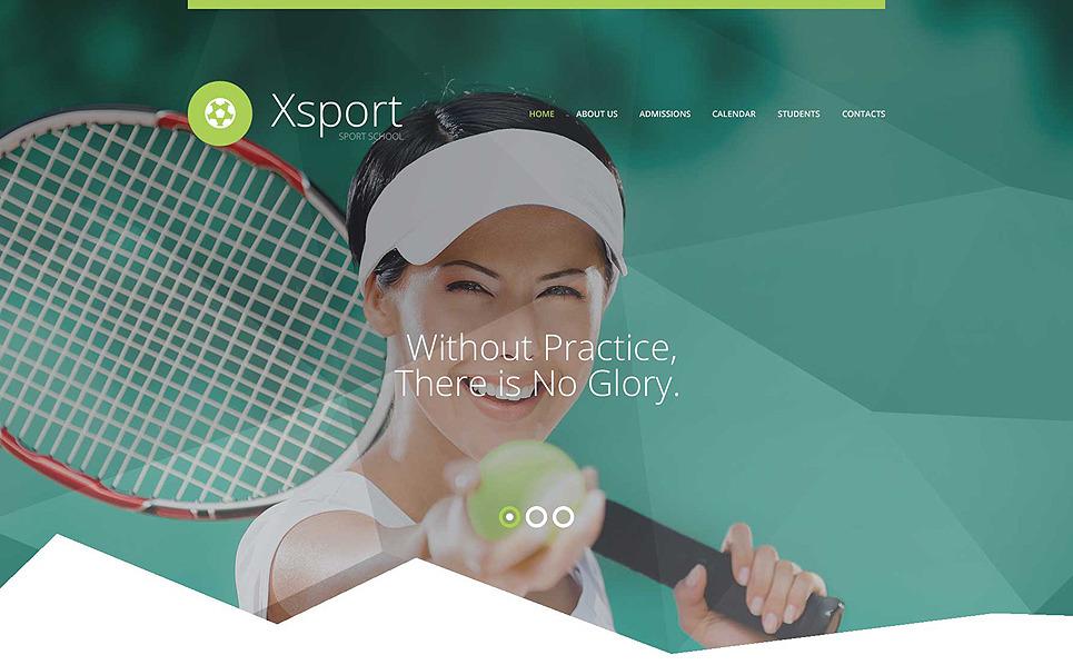 Template Siti Web Responsive #56029 per Un Sito di Sport New Screenshots BIG