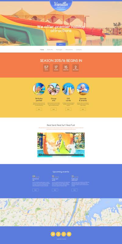 Vanilla Water Park Website Template #56067
