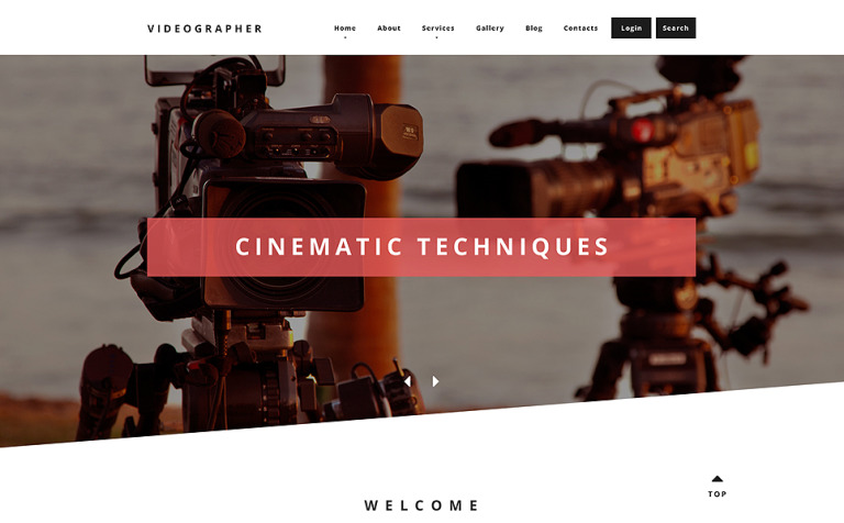 Videographer Drupal Template