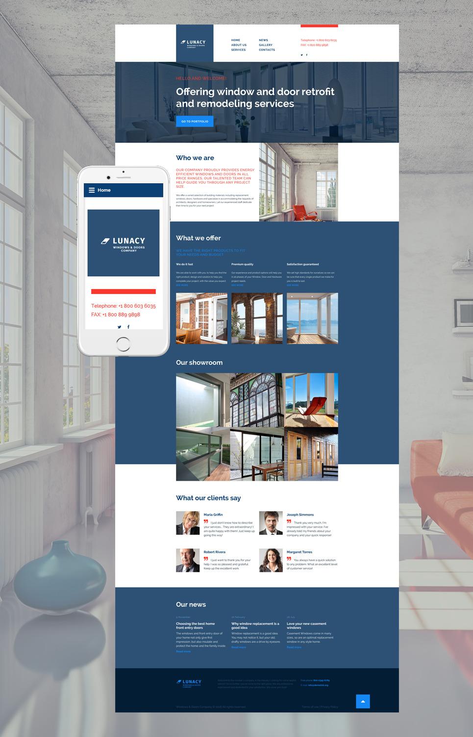 Windows Doors Website Template New Screenshots BIG & Home Decor Web Template