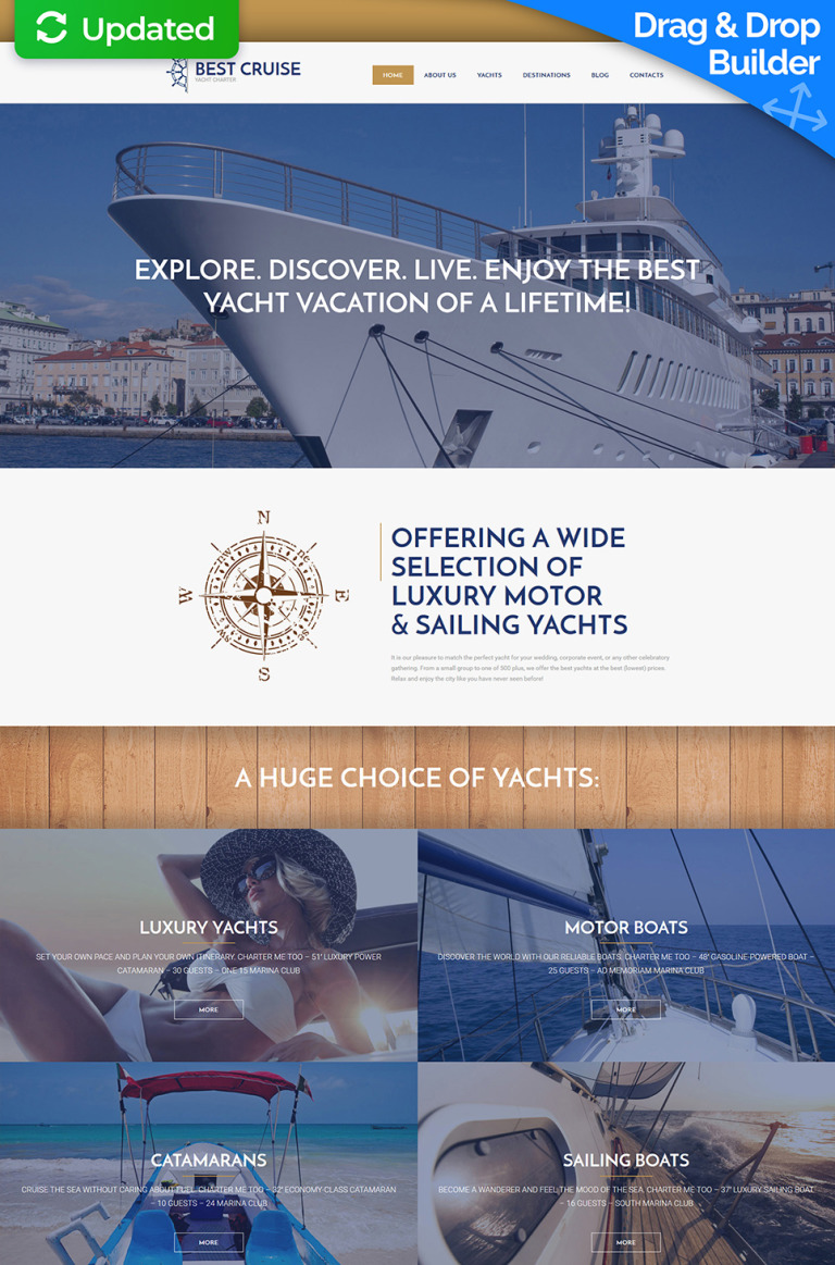 Yachting Responsive Moto CMS 3 Template New Screenshots BIG