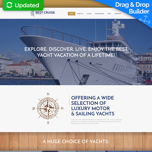 Best Cruise - MotoCMS 3 Template based on Bootstrap
