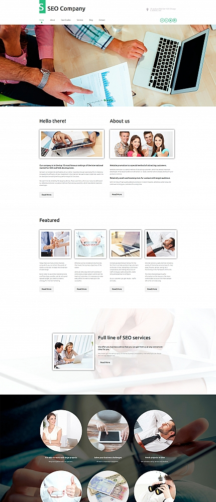 ADOBE Photoshop Template 56102 Home Page Screenshot