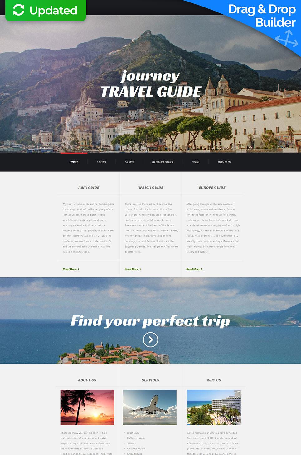 Web theme for tour company site