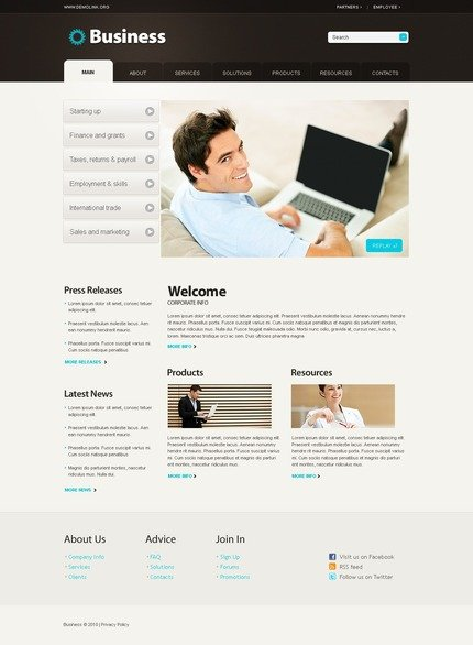 ADOBE Photoshop Template 56111 Home Page Screenshot