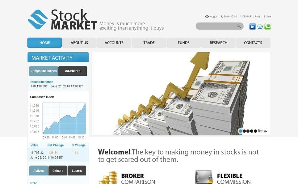 Szablon PSD #56112 na temat: firma inwestycyjna New Screenshots BIG
