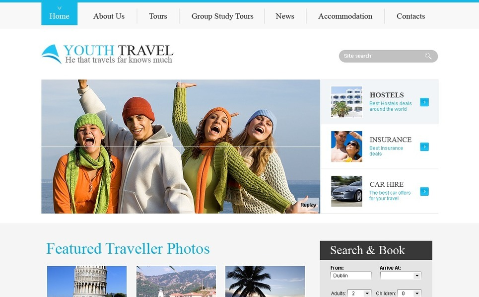Template Photoshop  para Sites de Agencia de Viagens №56113 New Screenshots BIG
