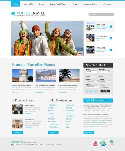 ADOBE Photoshop Template 56113 Home Page Screenshot