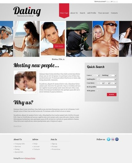 ADOBE Photoshop Template 56116 Home Page Screenshot