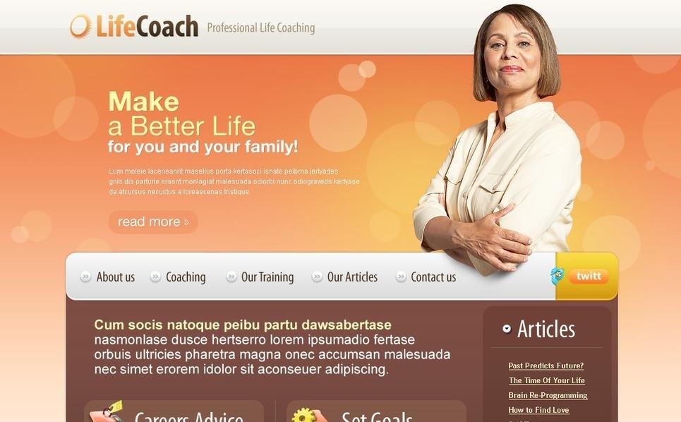 Plantilla PSD #56118 para Sitio de Life Coach New Screenshots BIG