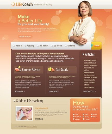 ADOBE Photoshop Template 56118 Home Page Screenshot