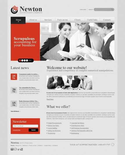 ADOBE Photoshop Template 56126 Home Page Screenshot