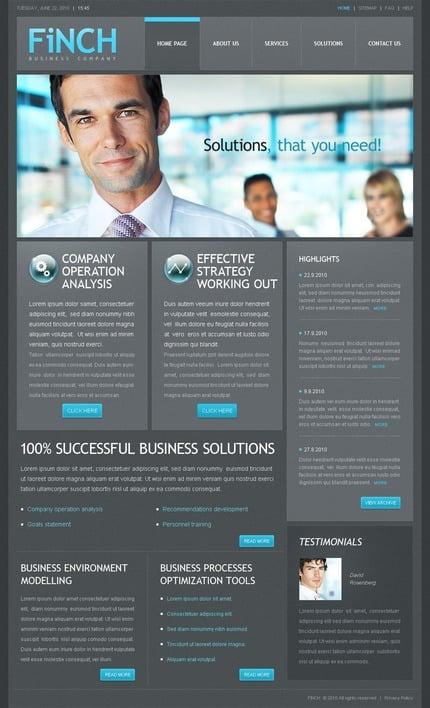 ADOBE Photoshop Template 56128 Home Page Screenshot