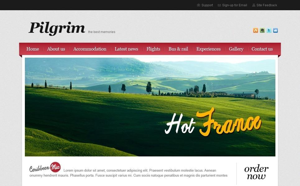Template Photoshop  para Sites de Agencia de Viagens №56130 New Screenshots BIG