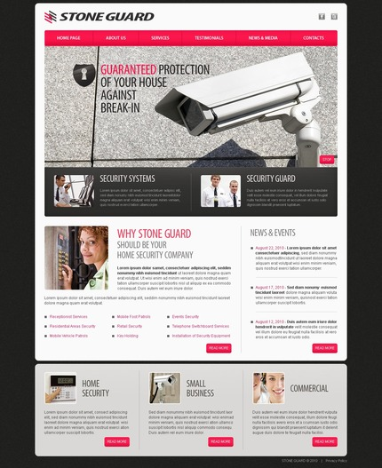 ADOBE Photoshop Template 56132 Home Page Screenshot