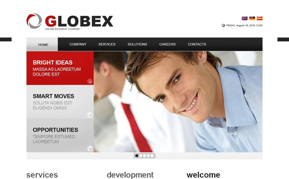 Szablon PSD #56133 na temat: biznes i usługi New Screenshots BIG