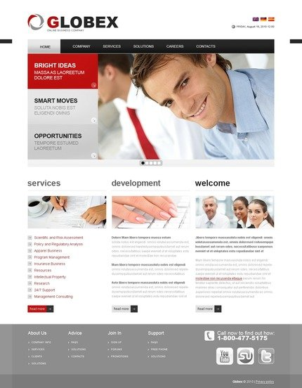 ADOBE Photoshop Template 56133 Home Page Screenshot