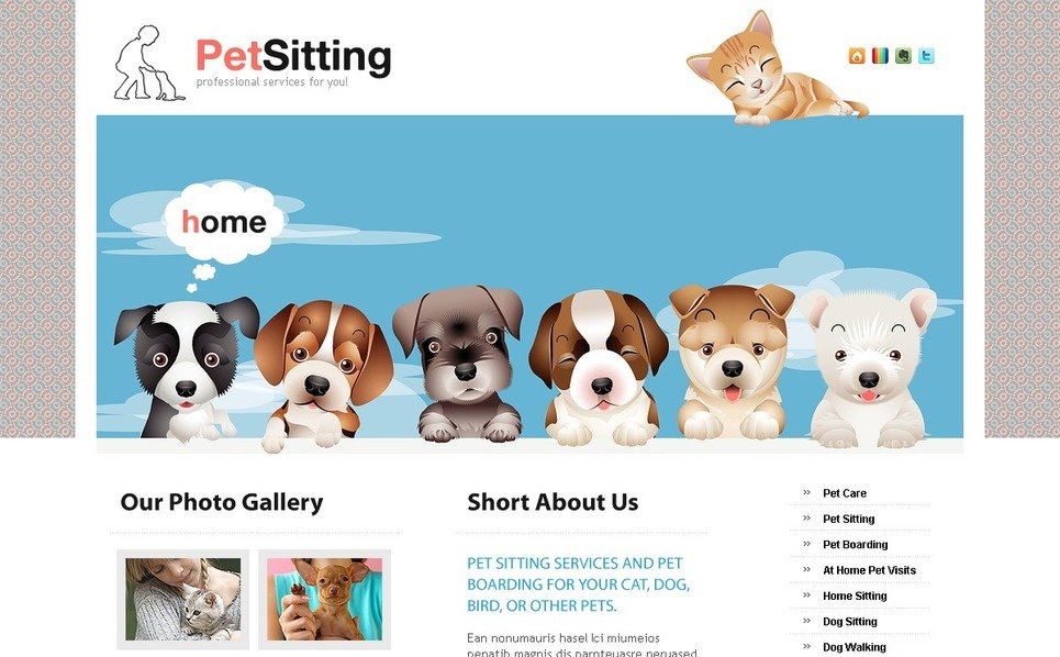 Modello PSD  #56135 per Un Sito di Pet Sitter New Screenshots BIG