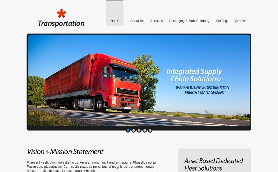物流运输公司网站PSD模板 New Screenshots BIG