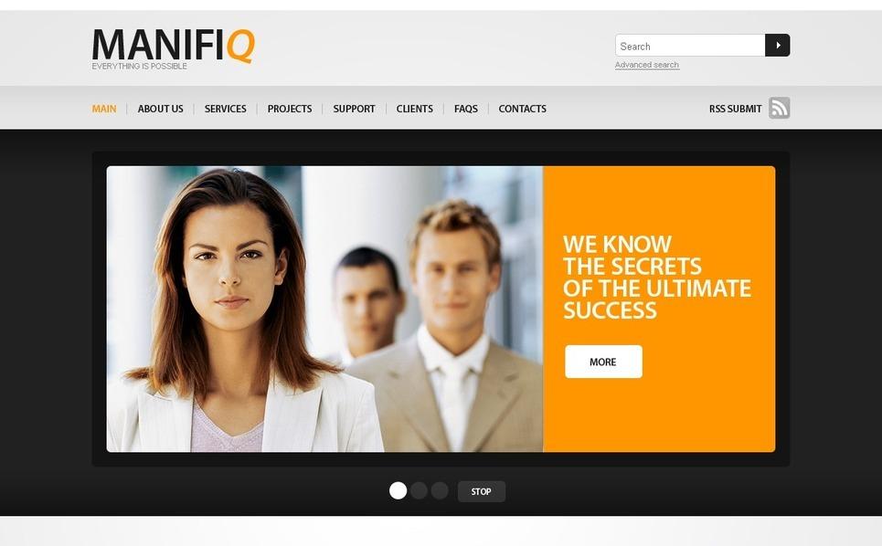 Template Photoshop  para Sites de Negócios e Prestadores de Serviços  №56139 New Screenshots BIG