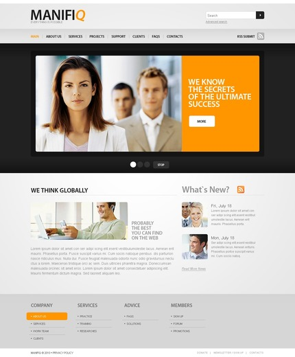 ADOBE Photoshop Template 56139 Home Page Screenshot