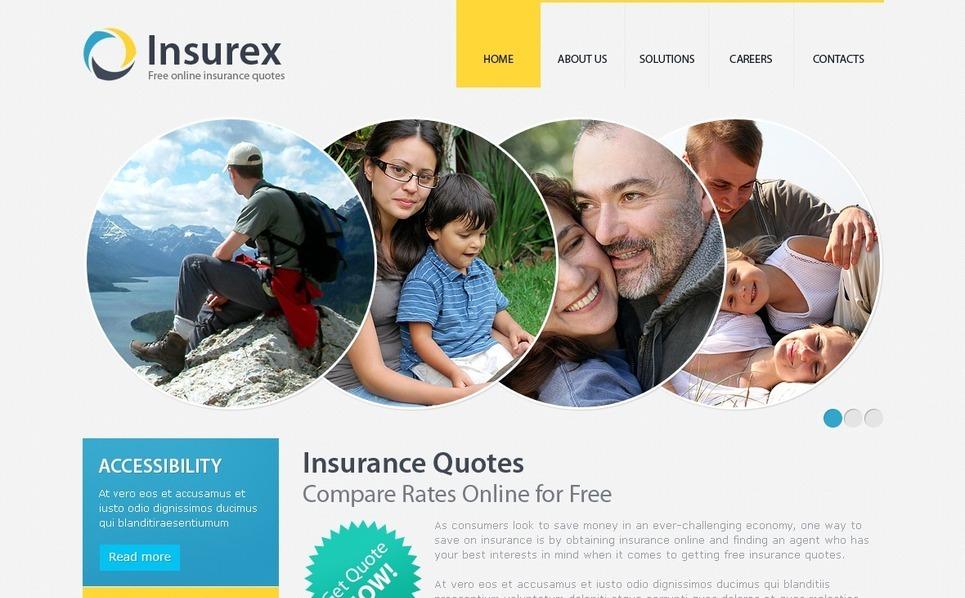 Template Photoshop  para Sites de Seguros №56141 New Screenshots BIG