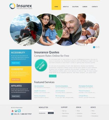 ADOBE Photoshop Template 56141 Home Page Screenshot