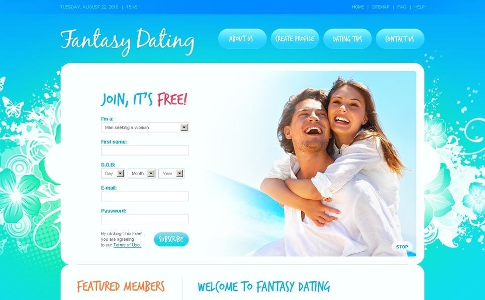 Plantilla PSD #56142 para Sitio de Citas New Screenshots BIG