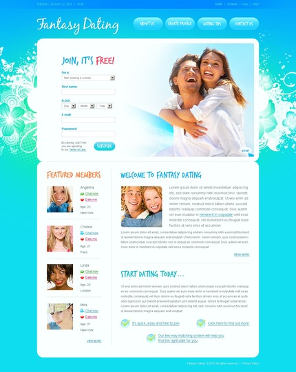ADOBE Photoshop Template 56142 Home Page Screenshot
