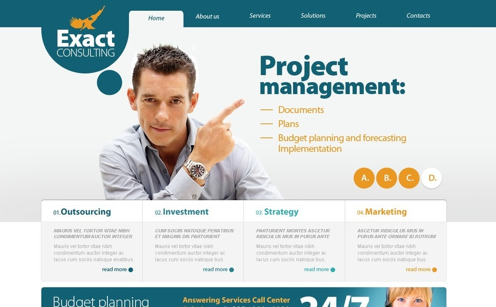Template Photoshop  para Sites de Consultoria №56146 New Screenshots BIG