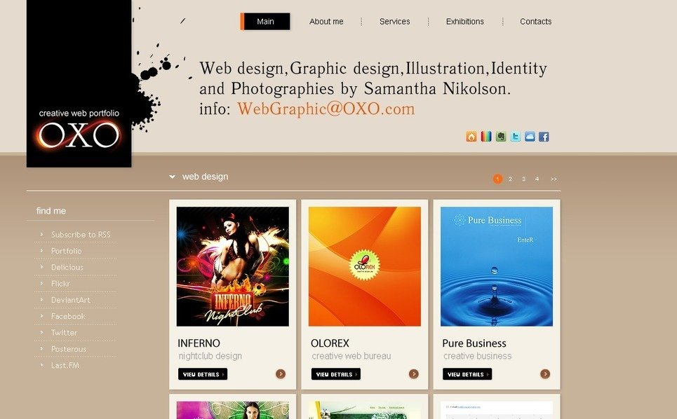 Szablon PSD #56152 na temat: web design New Screenshots BIG