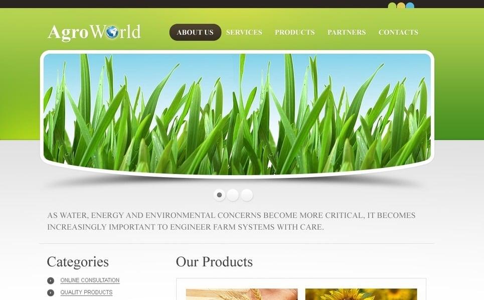 Plantilla PSD #56154 para Sitio de Agricultura New Screenshots BIG